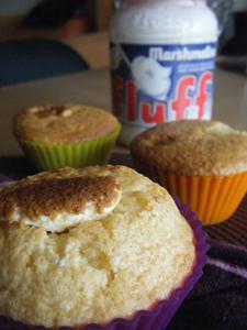 Muffins à la pâte de marshmallow