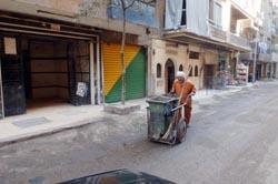 Caire : propreté des rues