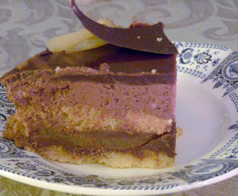 Gâteau chocolat poire gingembre