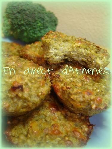 AMUSES BOUCHE : Galettes de quinoa et brocoli