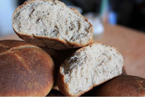 Petits pains à la farine de châtaignes et au levain Kayser