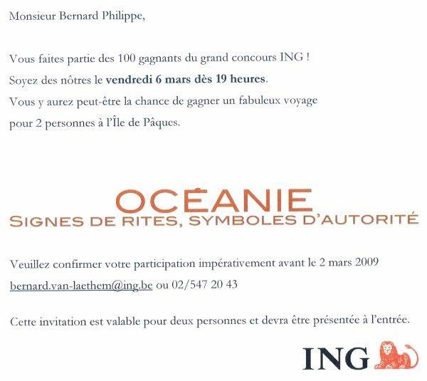 tirage au sort le 06/03/2009 à 19h00 pour un voyage à l'IDP (concours ING