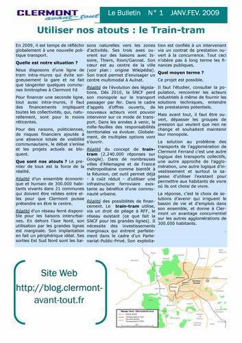 Bulletin N°1 de Clermont-Avant-Tout