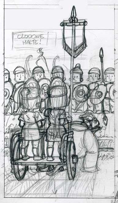 Char héllénide de dos (crayonné 660)