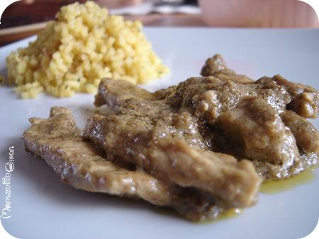 Porc au curry vert