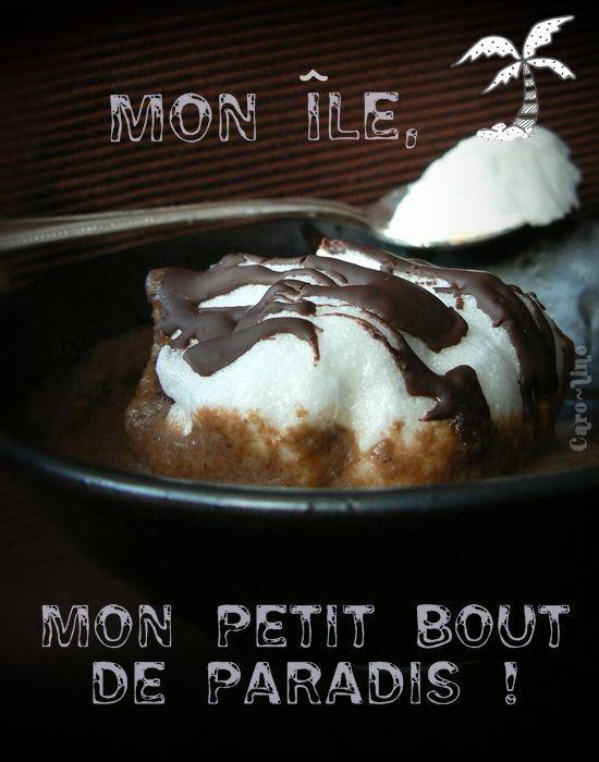 Iles flottantes sur crème anglaise au chocolat noir selon trish ...
