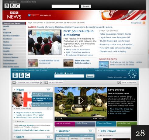 Great Redesigns | Function Design Blog | The BBC website