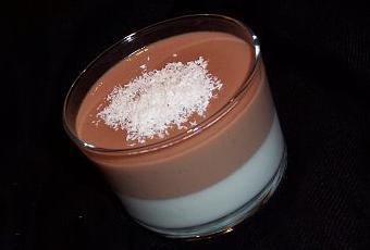 double panna cotta noix de coco chocolat au lait paperblog. Black Bedroom Furniture Sets. Home Design Ideas