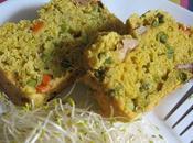Cake petit épeautre légumes curry (végétalien)