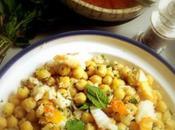 Chercher féminité dans salade pois chiches crabe, orange herbettes fraîches
