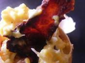 faire cuire oeuf brouillé chips jambon