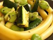 Pasta, pasta mais courgettes, fèves basilic