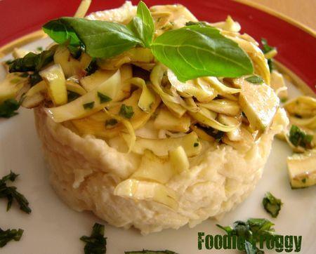 Light Salt Cod Brandade, Poivrade Artichoke Salad