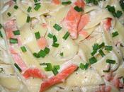 Tagliatelles saumon fumé