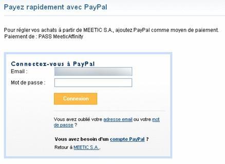 Site de rencontre payable par paypal