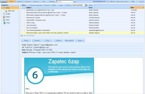 6zap mail 6zap, une solution Webmail hébergée sur votre serveur