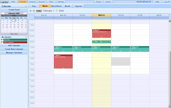 6zap calendrier 6zap, une solution Webmail hébergée sur votre serveur