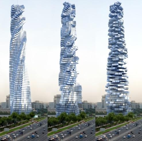 Da Vinci Tour. Dynamique de l'architecture à Dubaï. Da-vinci-tour-dynamique-larchitecture-dubai-L-1