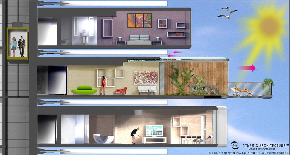 Da Vinci Tour. Dynamique de l'architecture à Dubaï. Da-vinci-tour-dynamique-larchitecture-dubai-L-5