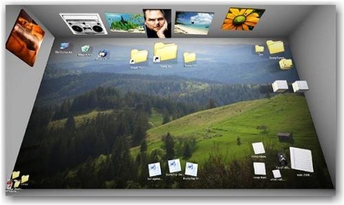 Bumtop le bureau 3d pour windows paperblog for Bureau 3d windows 7