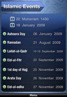 Les applications islamiques sur Iphone