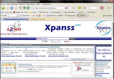 La pertinence des moteurs de recherche: Xpanss.com un nouveau moteur de recherche, répond-t-il aux  critères de pertinence?