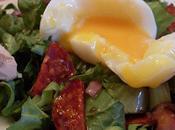 Petite salade Chorizo, Oeuf mollet, Foie gras...