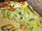 Filet l'unilateral, compotee poireaux sauce moules