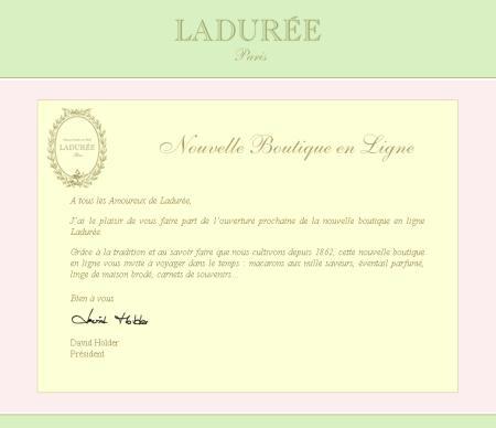 Inspirational Stores - Nouvelle boutique = laduree-boutique.com