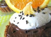 Cinquantième participation Tartelettes crémeuses chocolat, parfumées l'orange gingembre