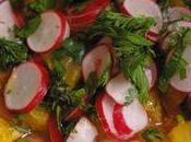 Pour appel soleil, salade radis orange....