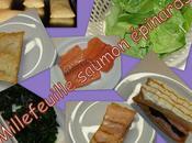 Millefeuille saumon épinards