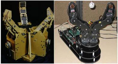 mains robotiques MARS et Intel