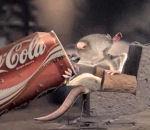 vidéo rapt soda coca-cola rat frigo déguisement légume