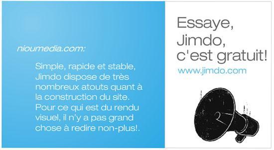 Jimdo passe en version française