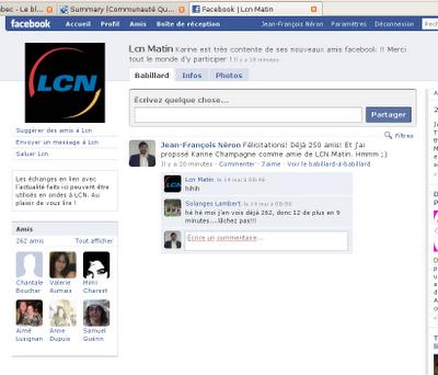 LCN Matin sur Facebook