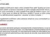 Tentative phishing abonnés Free