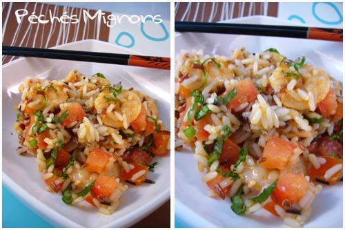 Salade de riz aux crevettes paperblog for Entree simple et rapide