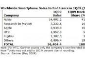Gartner Apple marché smartphones