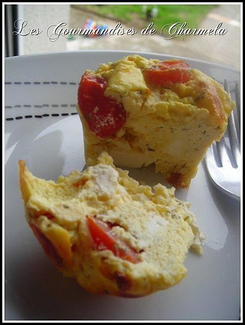 Flans de Tomates Cerise à la Feta