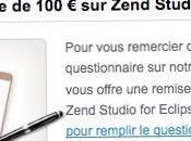 réduction 100€ Zend Studio Eclipse répondant sondage
