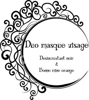 duo masque visage desincrustant noir et bonne mine orange paperblog. Black Bedroom Furniture Sets. Home Design Ideas