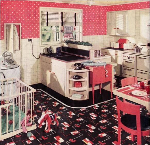 retro cuisine paperblog. Black Bedroom Furniture Sets. Home Design Ideas