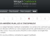 nouveau widget Cashback pour achats malins