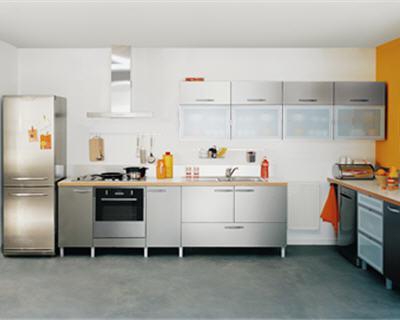 Couleurs mat riaux innovants la cuisine fait peau for Facade cuisine aluminium