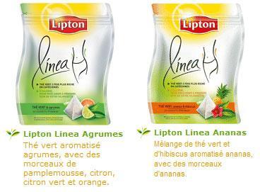 Lipton Linéa : le thé light pour un produit à 0 calorie habituellement !