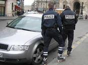 Policiers rollerblades