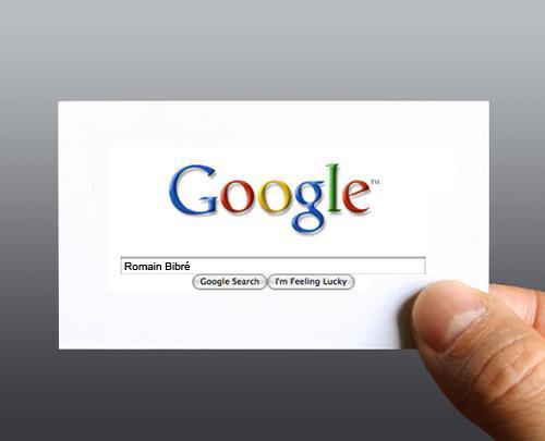 google me  votre carte de visite web