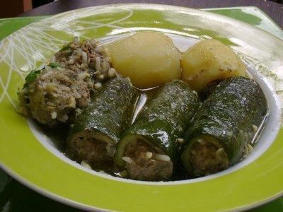 Dolma algéroise (courgettes et pommes de terre farcies)