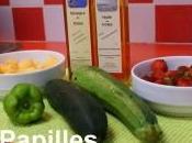 Salade fraises, melon, poivron, concombre courgette